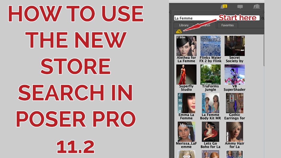 How to use the new store search in Poser Pro 11.2