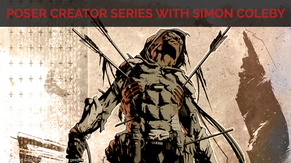 title card for Poser Creator Series: Creating comics for Marvel UK and DC with Simon Coleby