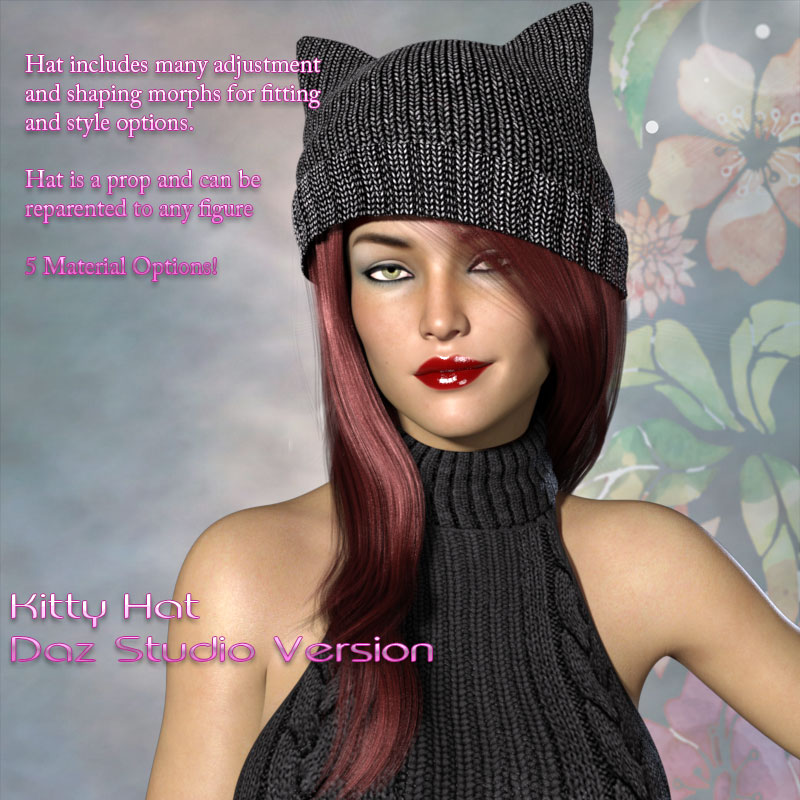 Kitty Hat for Poser and Daz Studio