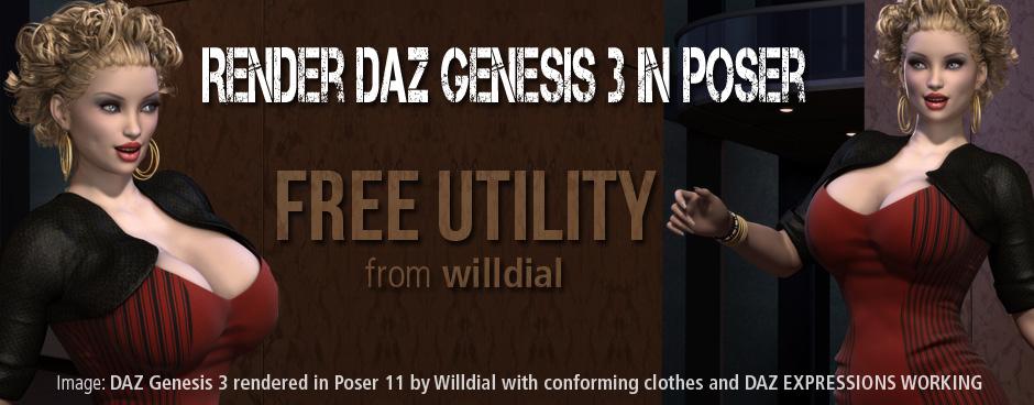 Genesis 3 to Poser Utility