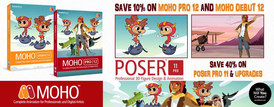 Poser Pro 11 & MOHO Sale