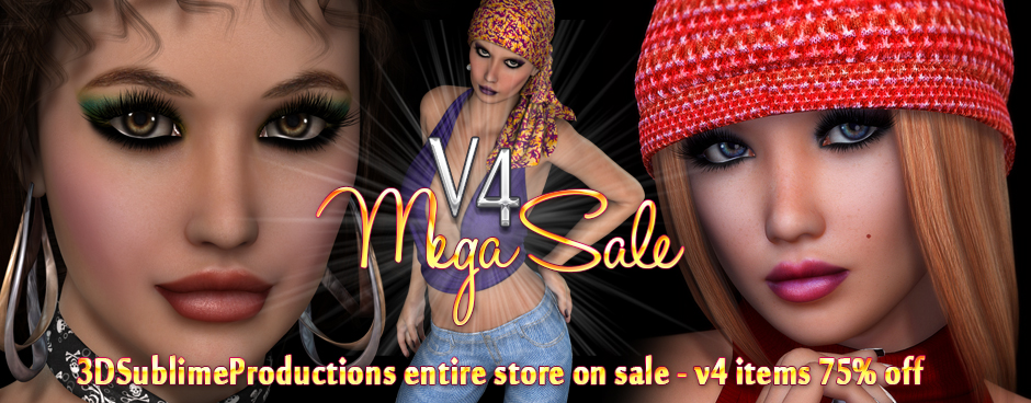 3DSublimeProductions V4 Mega Sale