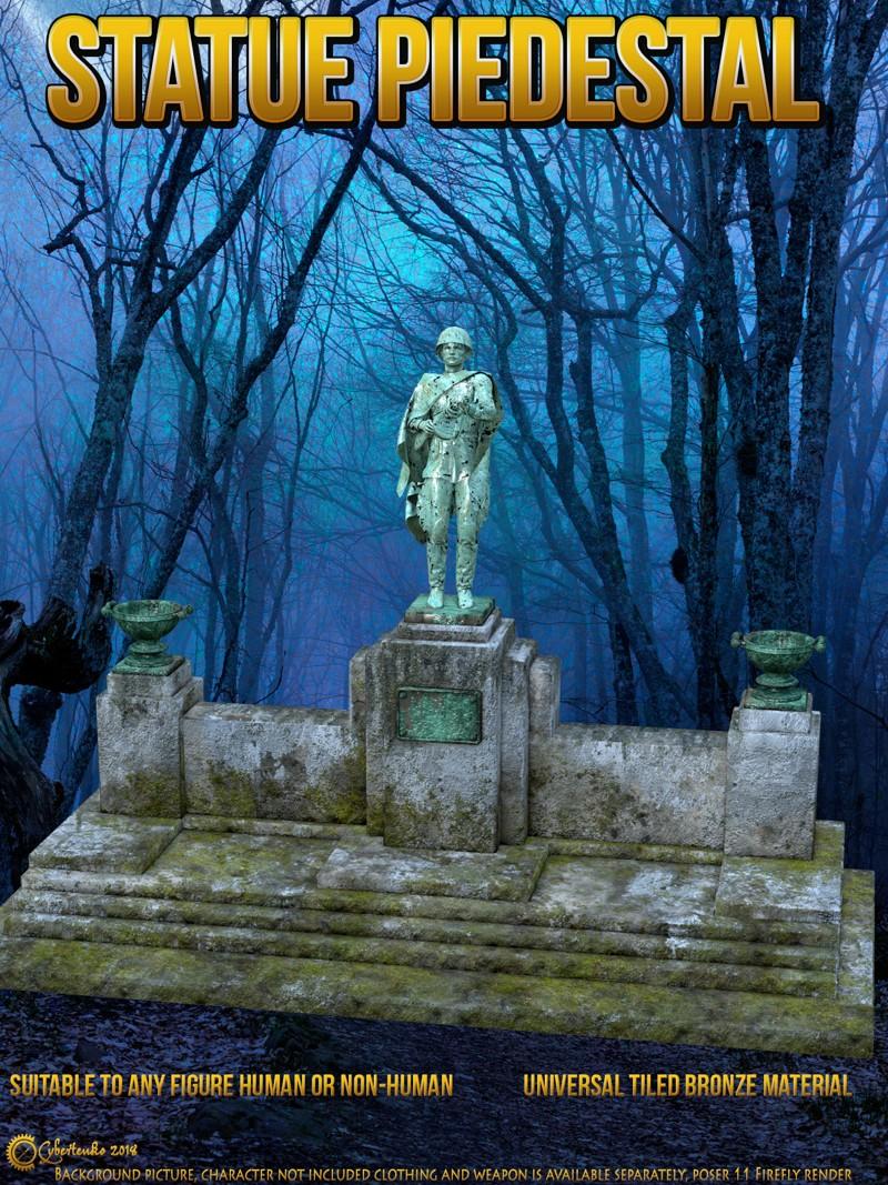 Statue Pedestral