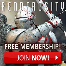 Free Membership at Renderosity 3D modeling resources