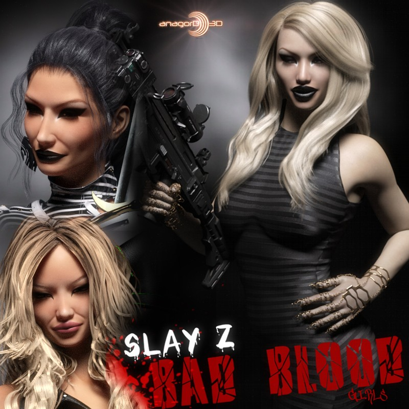 Bad Blood Girls - Head & Body morphs for G3F by Anagord