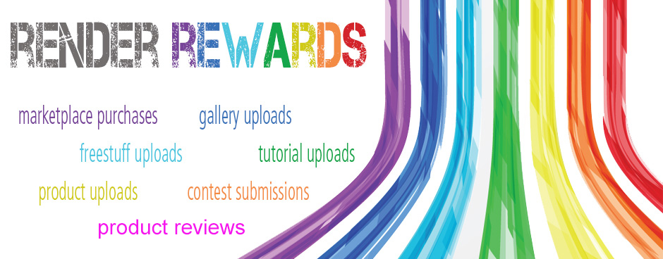 New & Improved Render Rewards Is Here! on Renderosity com